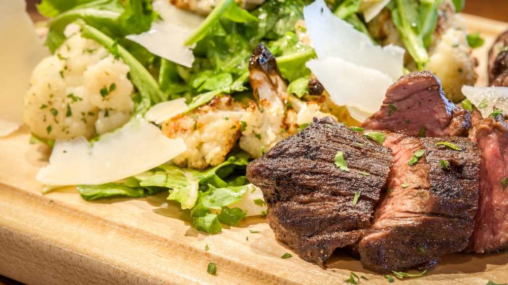 Grilled Hanger Steak Salad - West End Tavern in Traverse City
