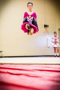 #10 - FEIS - A big part of MIMF is the FEIS. Every year, these wonderfully talented kids grace the stages at Muskegon Catholic Central hoping to become champions. This high flier was captured dancing her heart out at the 2015 MIMF.