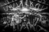 #5 - Scythian - Scythian circa 2018. This band has been an MIMF favorite for years. For me the, perspective of an adoring packed house as they take their final bow tells the story of a typical Friday night at the MIMF. I went black and white to accentuate the lines of the lights above. I love the photo, as it gives you the band's point of view.