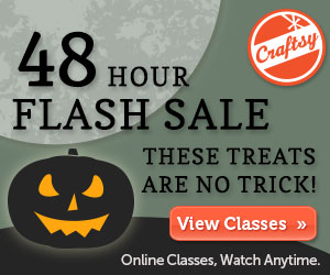 48 Flash Sale for Craftsy Classes 10/30-10/31