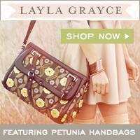 Layla Grayce Offers 15% off Lili Alessandra & Features Petunia Handbags