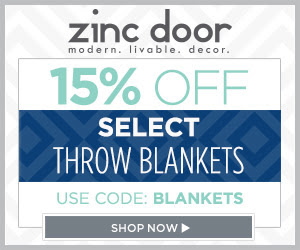Zinc Door: 15% Off Throw Blankets