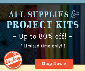 Save up to 80% on All Supplies & Project Kits at Craftsy