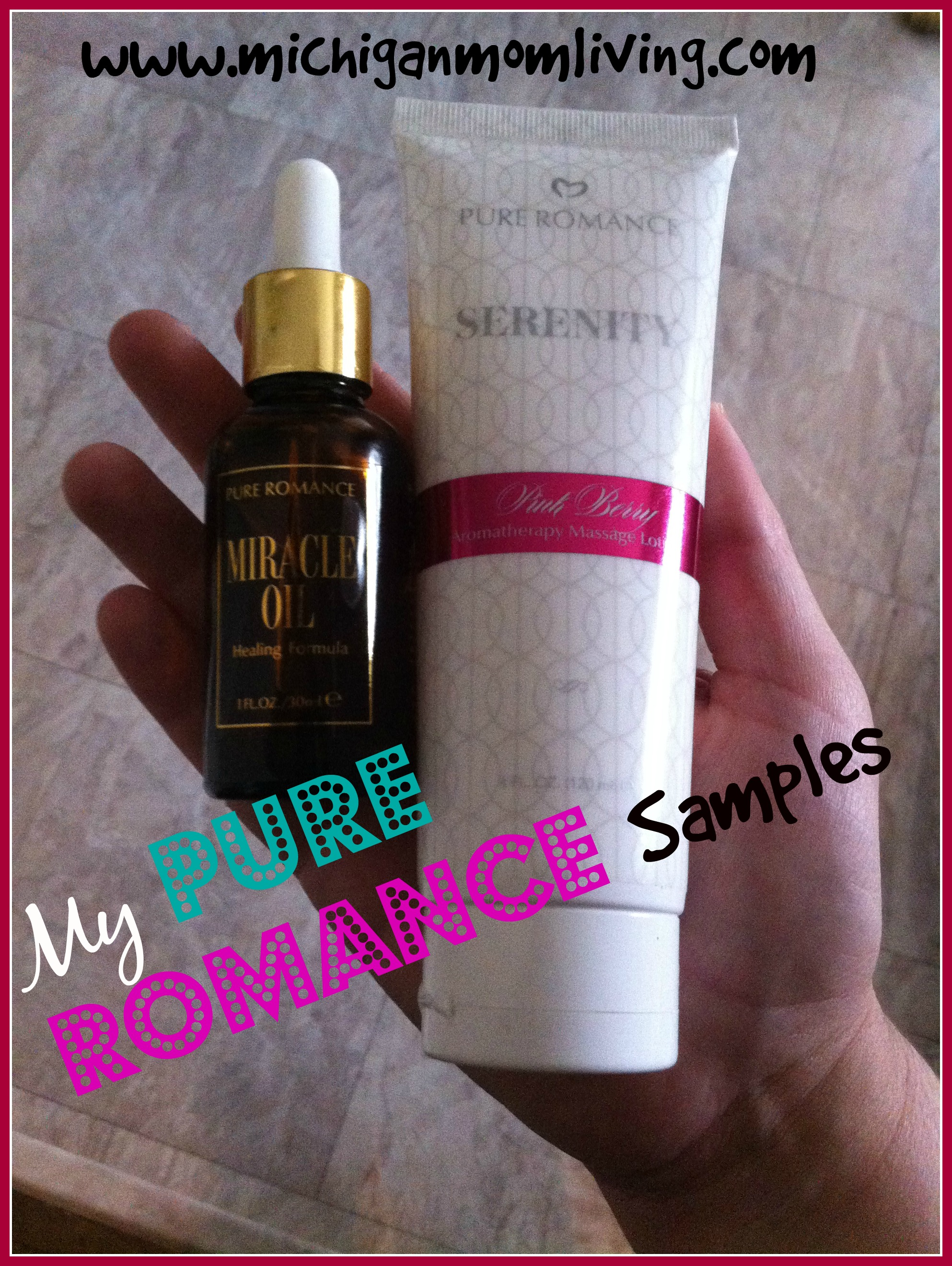 Miracle Oil and Aromatherapy Massage Lotion by Pure Romance {Review}