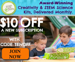 Green Kid Crafts $10 Off Sale Ends 10/31