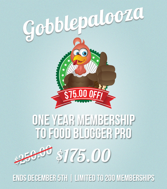 The Gobblepalooza Sale for the Food Blogger Ends 12/5
