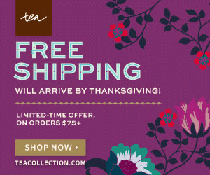 Free Holiday Shipping at Tea Collection by 11/26/2014 {Limited Time}