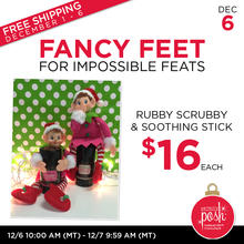 December 6th #Poshmas: Fancy Feet Rubby Scrubby and Soothing Stick $16 Each PLUS Free Shipping