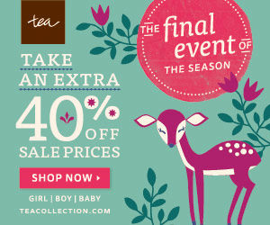 The Tea Collection Semi-Annual Sale – Extra 40% Off Sale Prices Ends 1/16