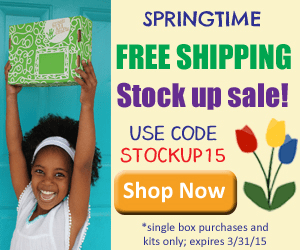 Annual Springtime Stock Up Sale: Free Shipping Until 3/31