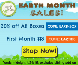 Celebrate Earth Month with Green Kid Crafts Ends 4/24