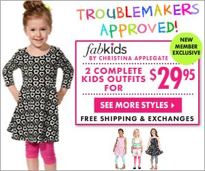 FabKids – 50% Off Your First FabKids Outfit Ends 8/10