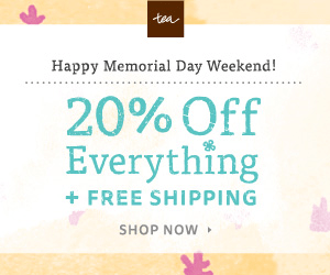 Tea's 20% Off Memorial Day Sale! + Free Shipping Ends 5/25