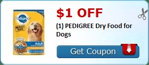 Coupon Savings 7/1: $1.00 Off Pedigree Dog Food, $0.75 Off Kraft Natural Cheese, and More!