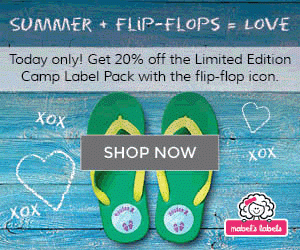 20% Off Mabel's Labels Limited Edition Camp Label Pack with the Flip Flop Icon