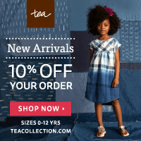 Get 10% off New Arrivals at Tea Collection