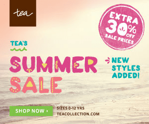 Today Only! Get an Extra 30% Off + Free Shipping with Tea Collection's Summer Sale