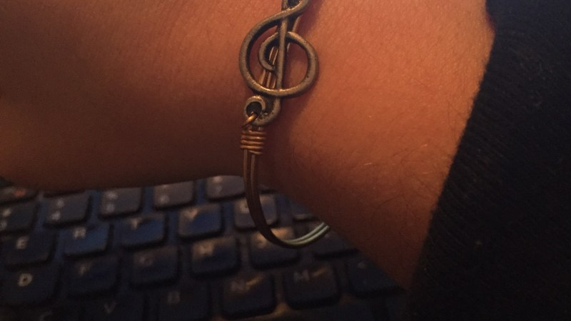 Treble Clef Bangle Bracelet by Luca + Danni #EmbraceTheJourney {Review}