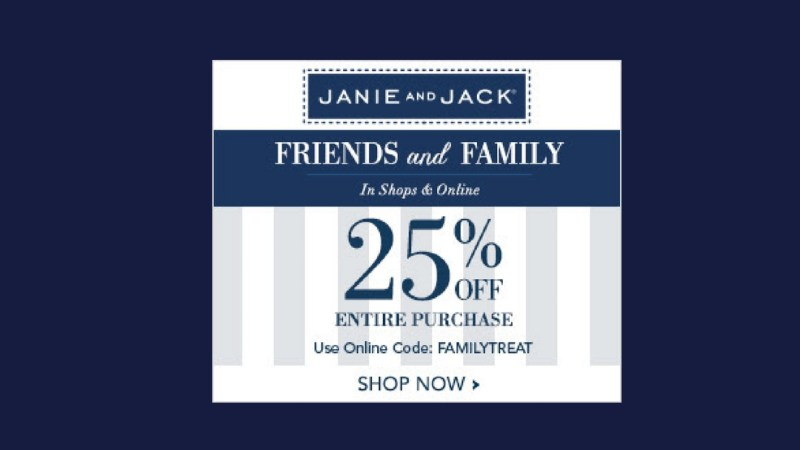 Janie and Jack: 25% Off Entire Purchase! Ends 10/2