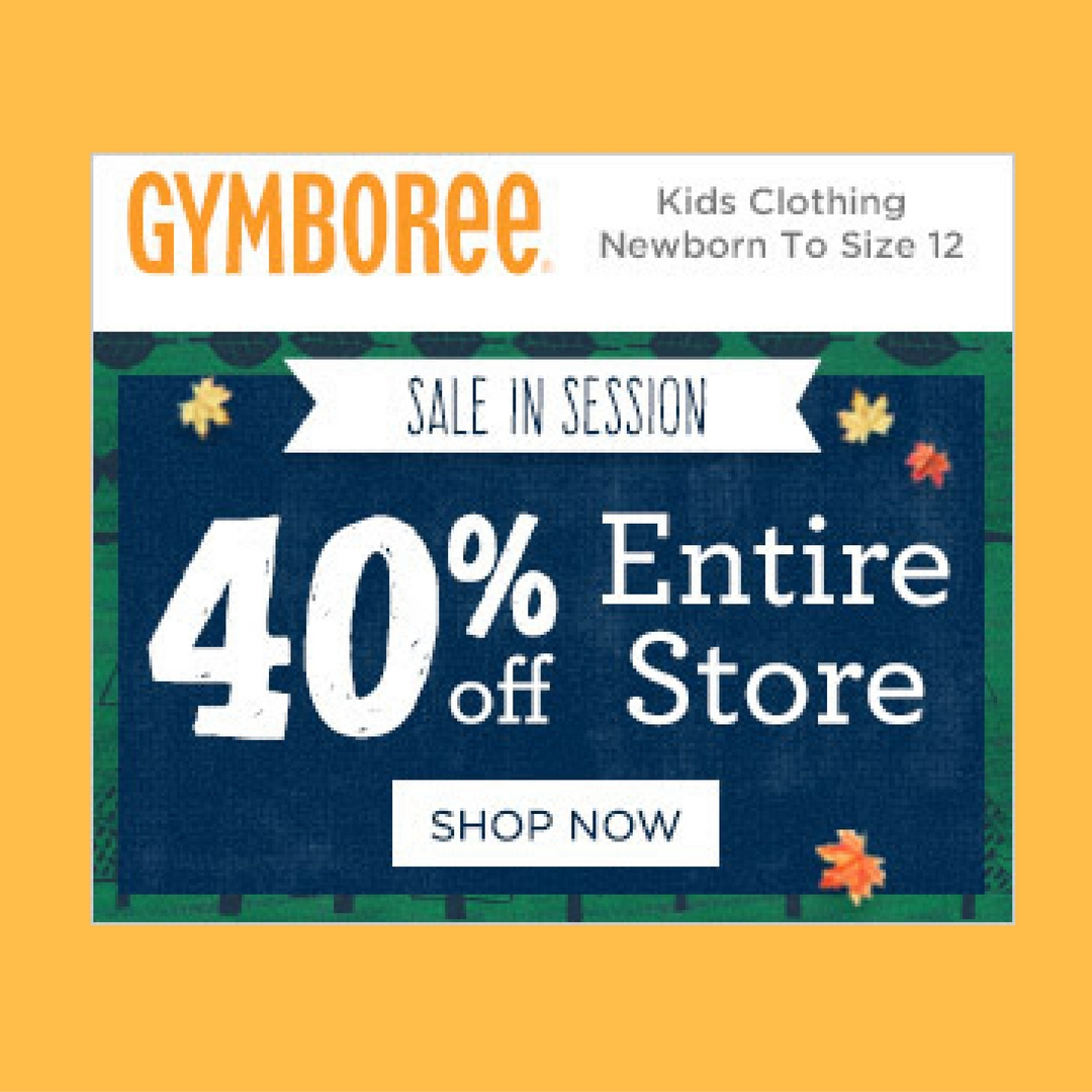 Gymboree: 40% Off Entire Purchase: Limited Time