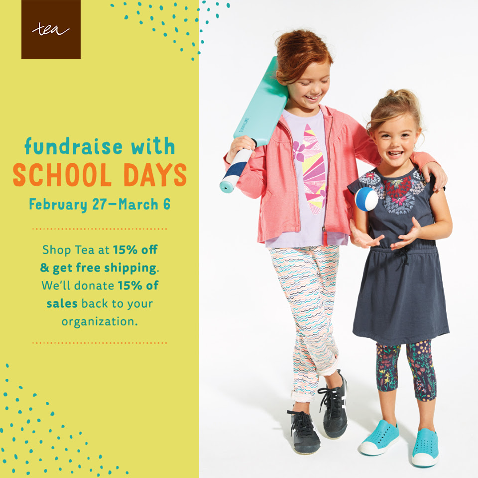 Fundraise with School Days at #TeaCollection 2/27-3/6