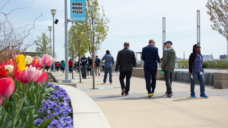 #BCBS of Michigan Kicks-Off Global Employee Health& Fitness Month with Lunchtime Walk at the Detroit Riverfront 4/28
