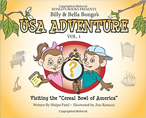 Children's Michigan Road Trip Book – Billy and Bella Bongo's USA Adventure: Visiting the Cereal Bowl of America {Book Promotion}