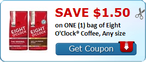 Daily Coupon Deals: Save $1.50 on One Bag of Eight O'Clock Coffee #CouponAd #AffiliateLink
