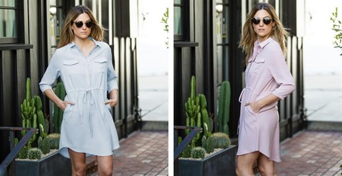 Drawstring Waist Shirt Dress – Was $59.99 – Ships for $19.98! Ends 7/18/18