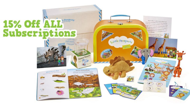 Save 15% on ANY Subscription @ Little Passports FLASH SALE ends 7/23/18