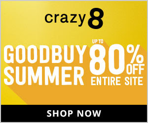 Up to 80% Off the Entire Store at Crazy 8 Ends 7/22