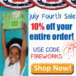 Green Kid Crafts 4th of July Sale: 10% OFF YOUR ENTIRE ORDER Ends 7/6/18