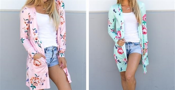 Long Sleeve Floral Cardigan – Was $36.99 – Ships for $20.98! Ends 8/18/18
