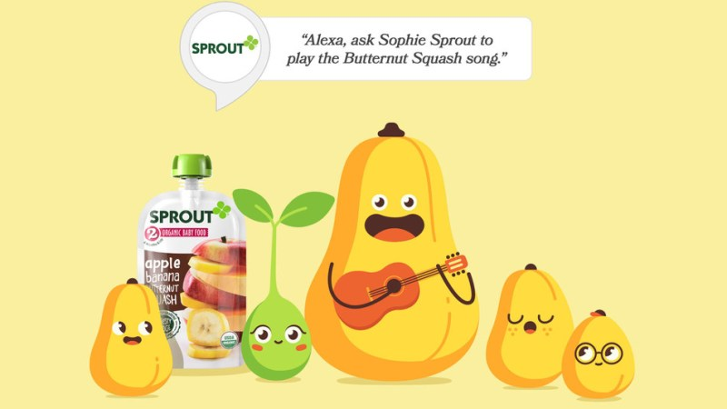 "Sprout Foods Launches First Amazon Feeding App for Babies ""Sophie Sprout"" Makes Mealtime Fun with New Alexa Skill"