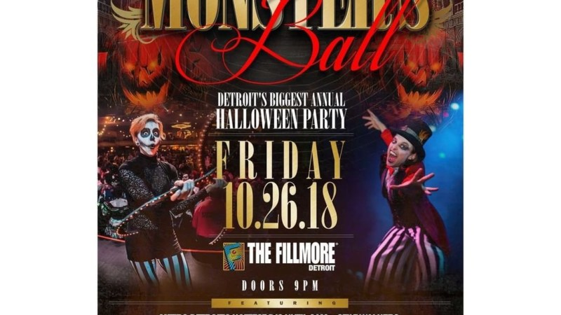 """Monsters Ball"" Detroit's Biggest Annual Halloween Party 10/26/18 @ The Fillmore Detroit"