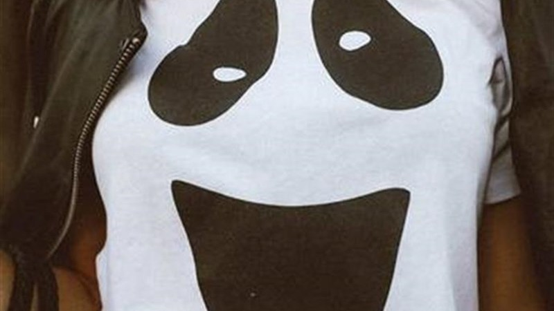 Ghost Face Tee – Was $36.00 – Ships for $17.98!