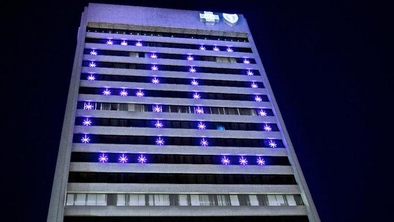 Blue Cross Blue Shield of Michigan Illuminates Detroit Headquarters with '80' to Celebrate Anniversary…