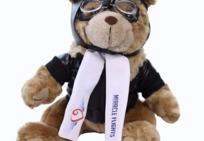 Holiday Gifts that Give Back: Help Fund Flights to Medical Care, and Miracle Flights Will Give You a Limited-Edition Plush Bear