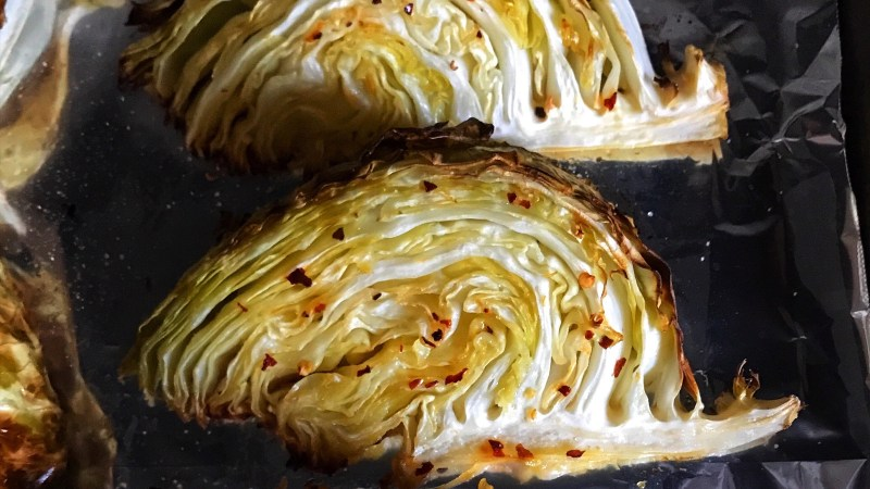 Roasted Cabbage with Garlic and Rosemary-Infused Olive Oil Recipe