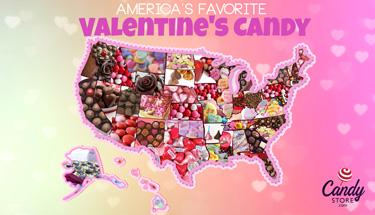 Top Valentine's Candy by State Map