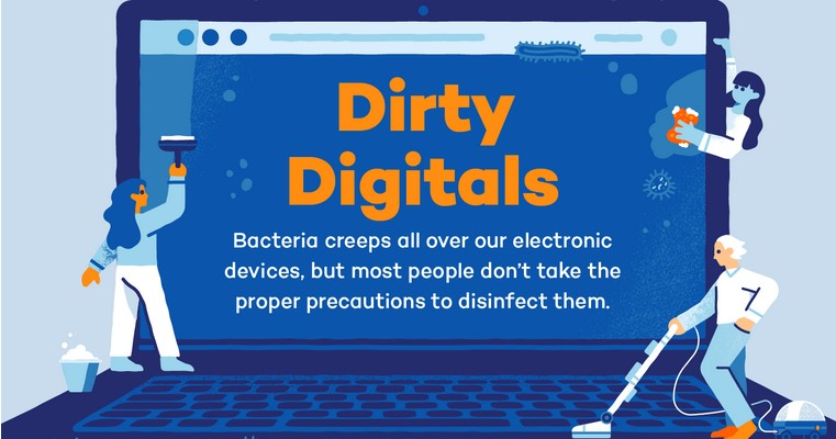 Commonly Used Tech You Need to Disinfect (Infographic)