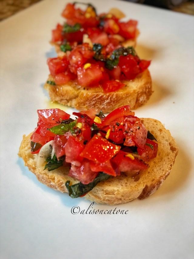 Bruschetta with Tomato and Basil Recipe