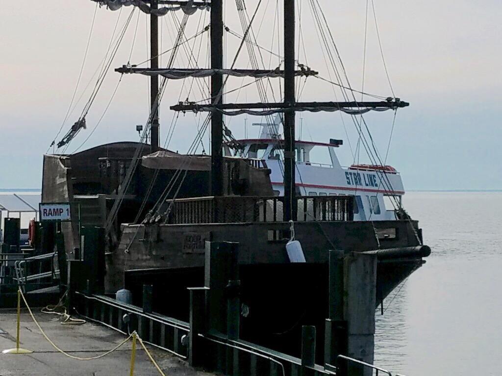 """Argh, Me Hearties!"" Pirate Ship to Ferry Passengers to Mackinac Island"