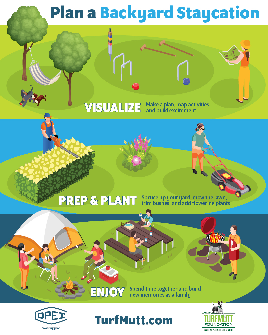 How to Plan a Backyard Vacation – Infographic