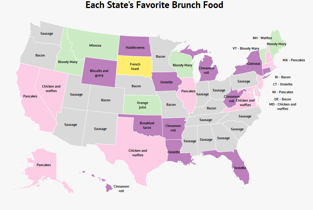 Each State's Favorite Mother's Day Brunch (It's Surprisingly Meat)
