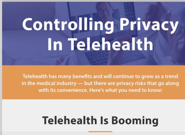 Protecting Privacy in Telehealth Communication – Infographic