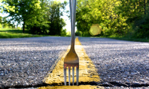 Take the fork.