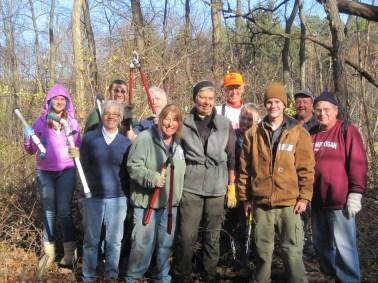 Volunteers at a Dauner Martin Nature Sanctuary workday