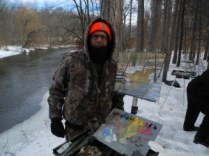 Bruce At Huron River Feb 14