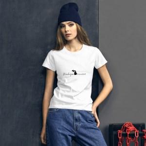 Michigan Travelist women's t-shirt.